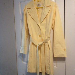QUICK LIST EUC Talbots Light Yellow Raincoat XL